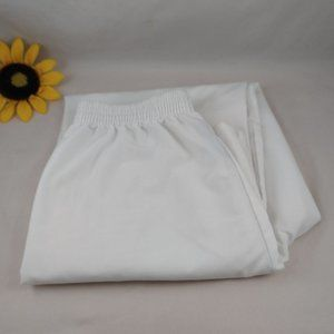 Angelica White Work Pants with Pockets S